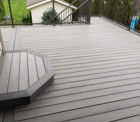 Ash Grey Border with Hazelwood deck