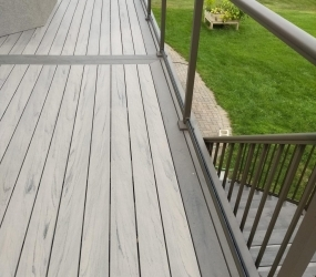 Ash Grey Border with Hazelwood deck1